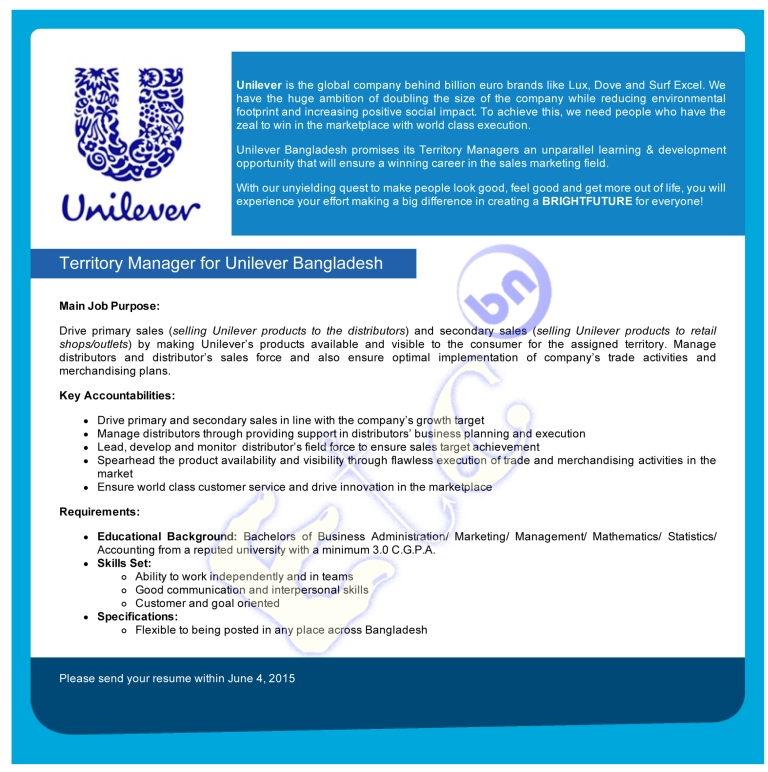 marketing and unilever bangladesh