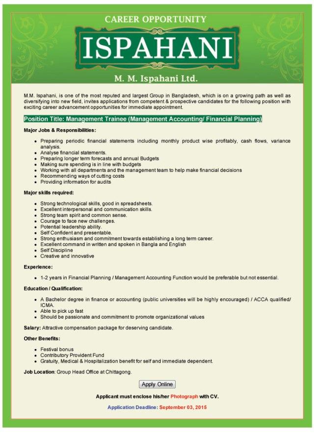 Career Opportunity at ISPAHANI